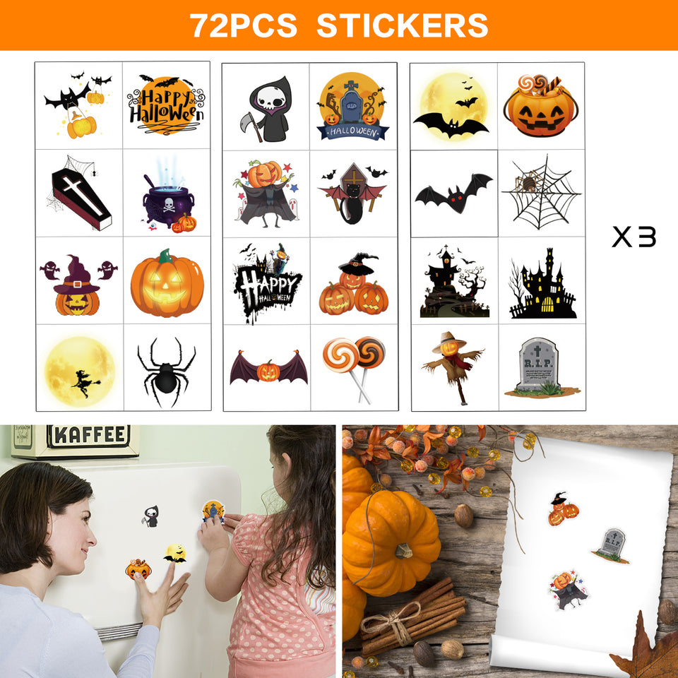192 PCs Halloween Stamps for Kids