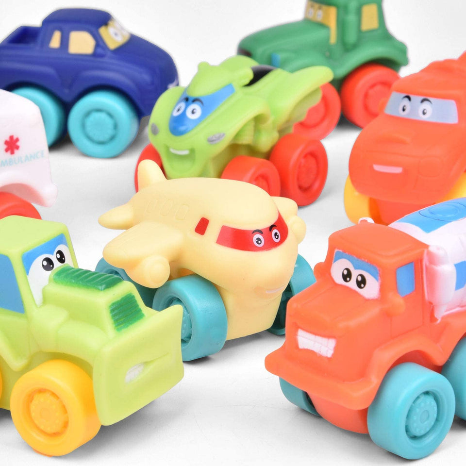 18 PCs Baby Cars Toy Vehicles for Party Favors, Goodie Bags Fillers, Classroom Prizes, Pinata Fillers