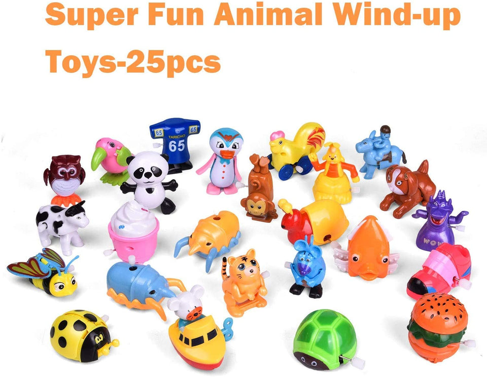 Wind Up Toys 25 PCs Assorted Animal Toys