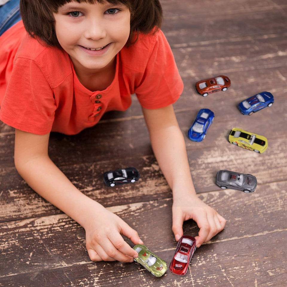 12 PCs Toy Vehicles for Party Favors, Goodie Bags Fillers, Classroom Prizes, Pinata Fillers