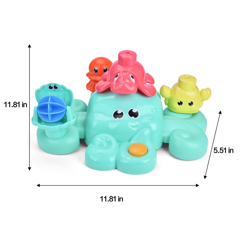 5 PCs Bath Tub Toys Set, Spray Water Toys