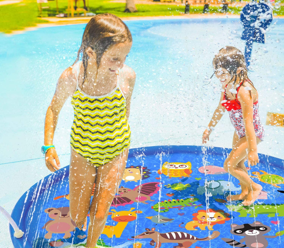 Inflatable Sprinkler for Kids, 66'' Splash Pad for Summer Outdoor, Swimming Pool, Baby Water Toys 2-12 Year Old Boys & Girls