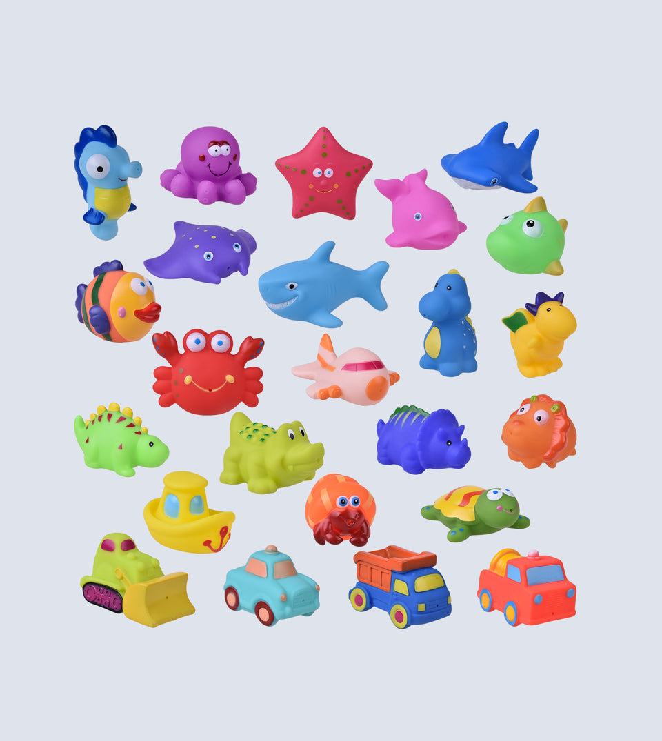 24 PCs Bath Toys , Sea Animals Squirter Toys
