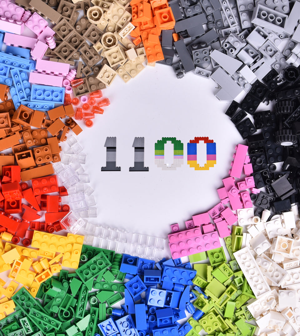 1100 PCs Building Bricks in 17 Popular Colors