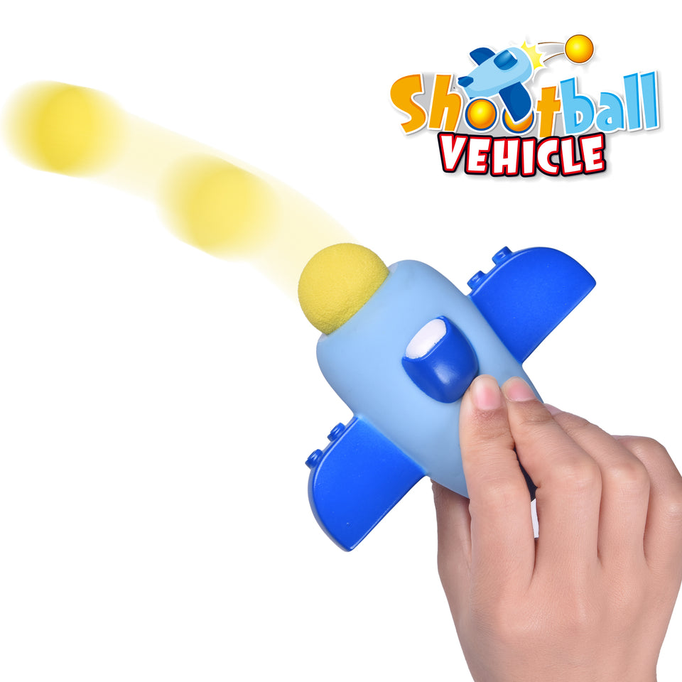 Shooting Foam Balls Vehicle Toys, 8 Balls Included, Age 3+