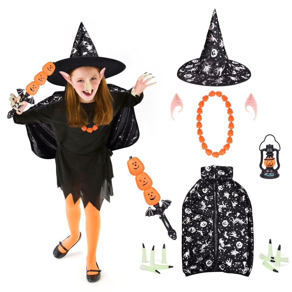 18 PCs Halloween Costumes Set