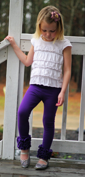 Purple icing leggings