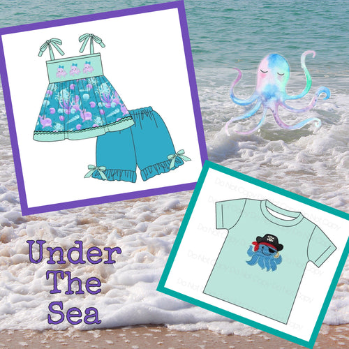 Under The Sea Sibling Collection Octopus Preorder Through 3/14 @9 PM CST