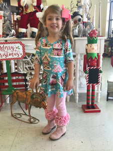 Gingerbread Christmas Hi Low Peplum