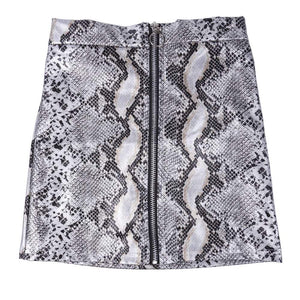 Faux Leather Skirts in Leopard or Snakeskin