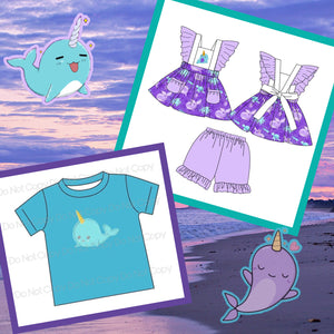 Under The Sea Sibling Collection Narwhal Preorder Through 3/13 @9 PM CST