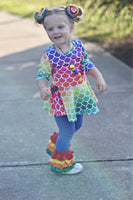 Rainbow Mermaid Pants Set