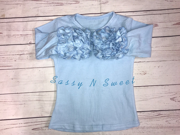 Light Blue Icing Layering Shirts