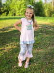 Elephant Swing Top Capri Pants