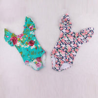 Floral Print Leotards