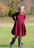 Red Plaid Twirl Dress