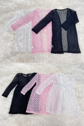 White, Black or Pink LV Inspired Duster