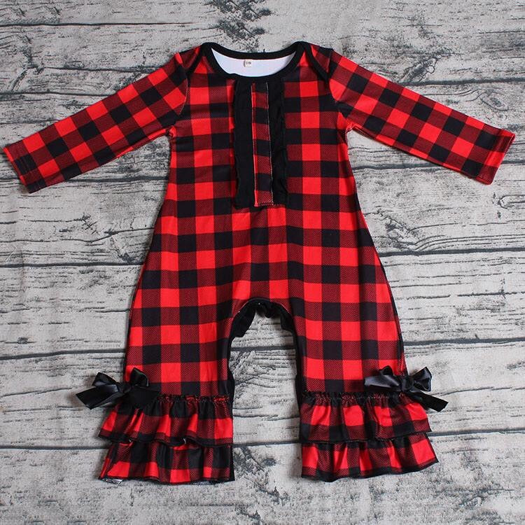 Red Plaid Romper