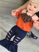 Pumpkin Off Shoulder Leotard