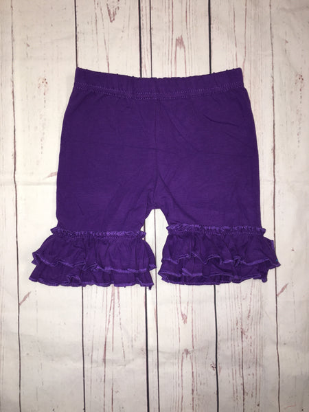 Purple Ruffle Shorts