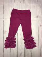 Plum icing leggings