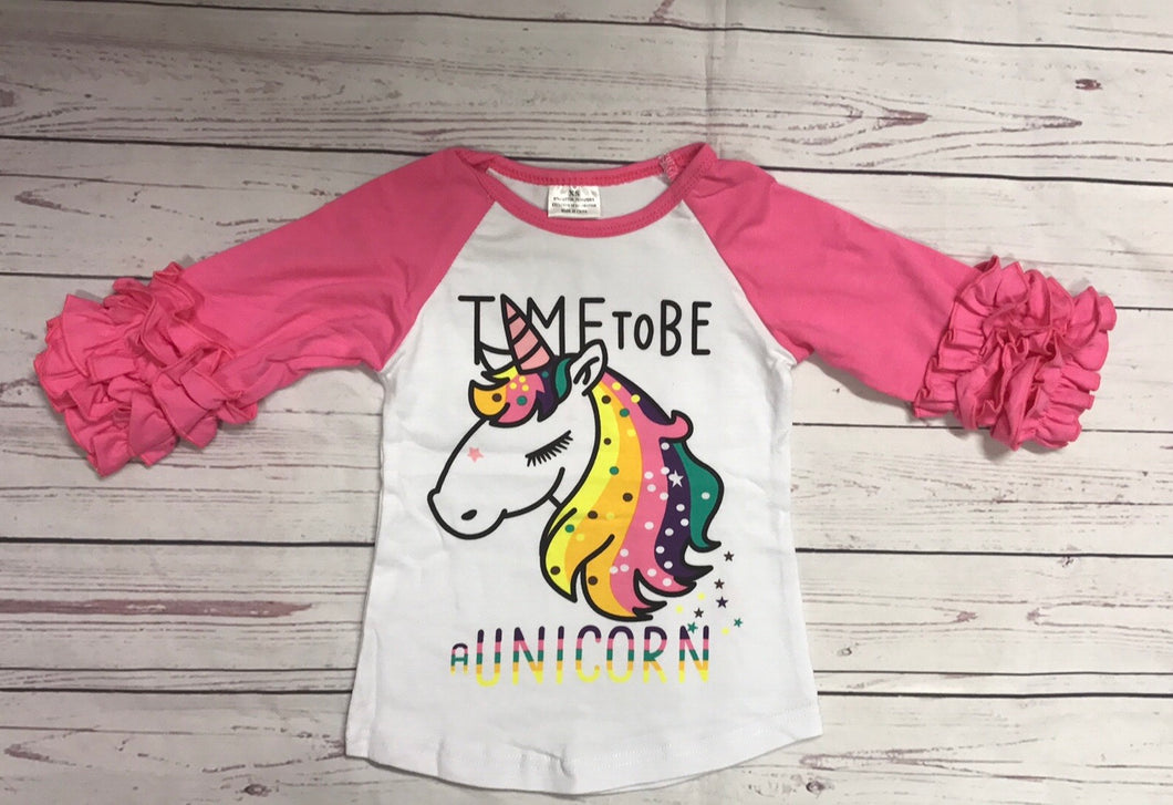 Time To Be A Unicorn Raglan