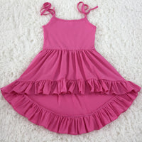 Pink Hi Low Dress