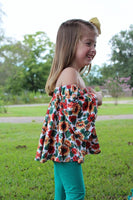 Sunflower Fields Off Shoulder Top Available in 5 colors
