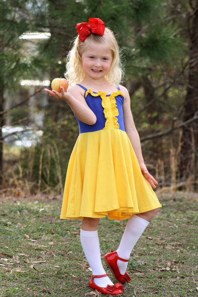 ***Snow White*** Inspired Twirl Dress