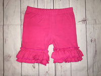 Hot Pink Ruffle Shorts