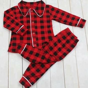 Youth Christmas PJs Plaid