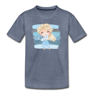 Ice Queen Youth T-Shirt - heather blue