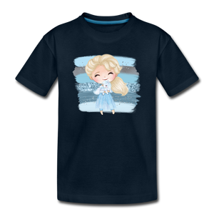 Ice Queen Youth T-Shirt - deep navy