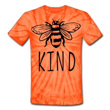 Bee Kind Unisex Tie Dye T-Shirt - spider orange