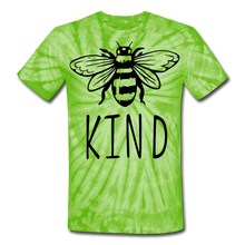 Bee Kind Unisex Tie Dye T-Shirt - spider lime green