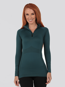 Anique Women's Signature Quarter Zip Shirt