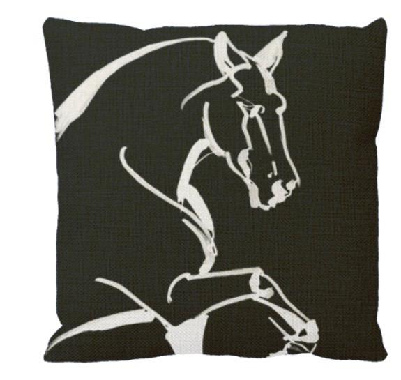 Black Caviar Throw Pillow by AtelierCG