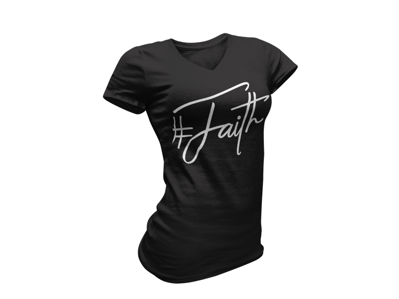 Faith Hashtag - Women's V-Neck