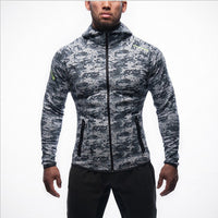 Fitness Men Hoodie Zipper