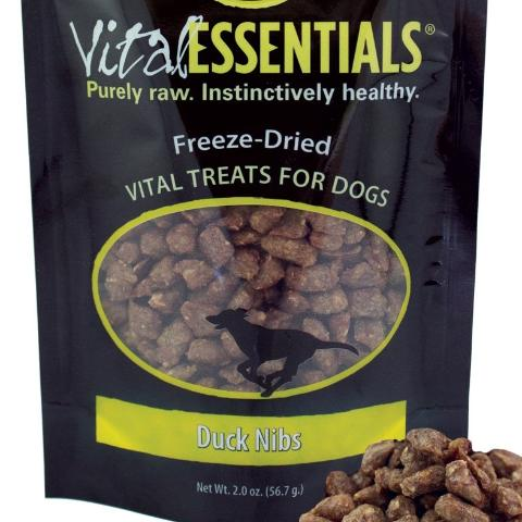 Vital Essentials Dog Treat FD Duck Nibs