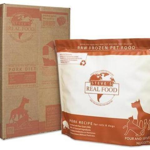 Steve's Dog Food Frozen Pork Patties 13 pound case