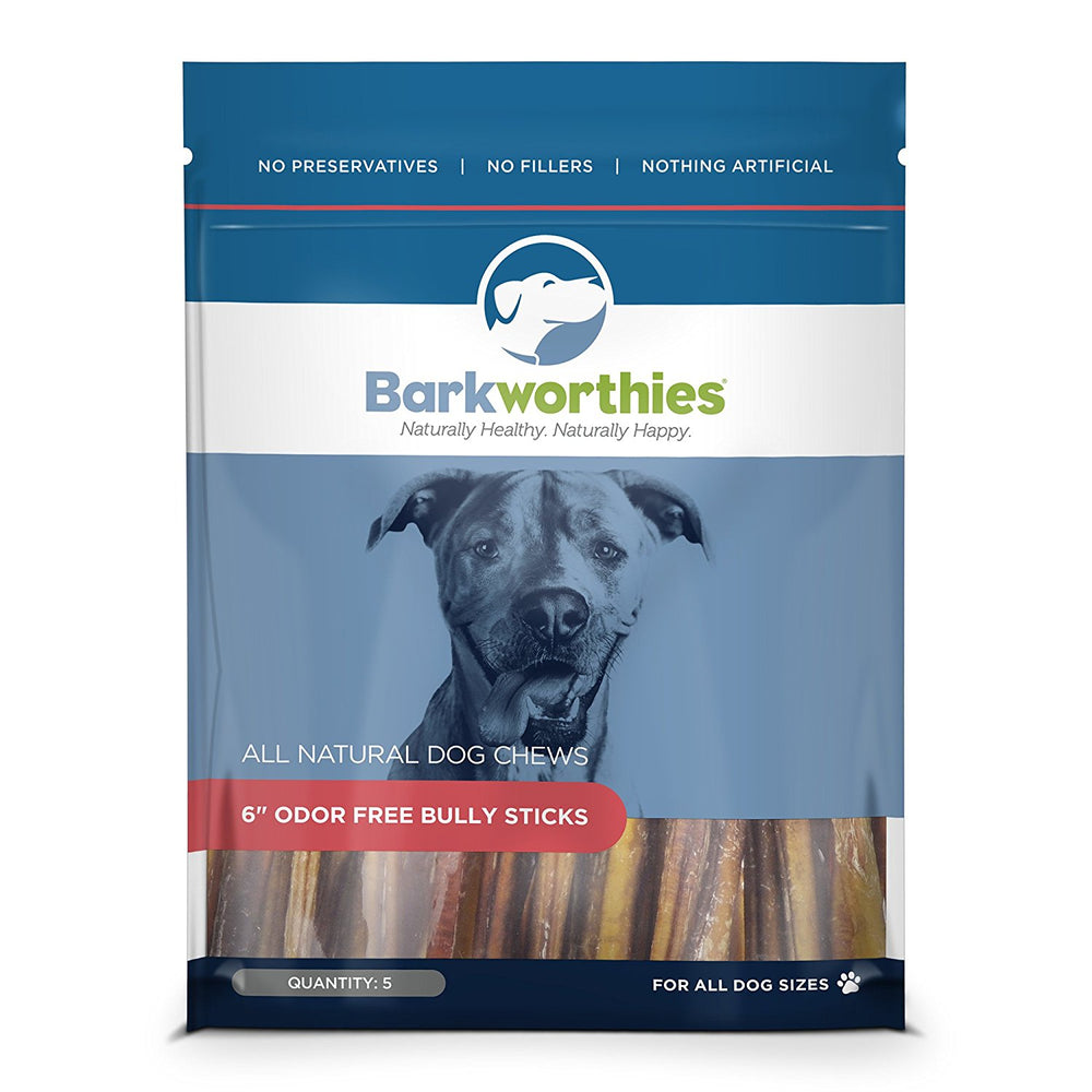 "6"" Odor Free Bully Sticks 5 ct."