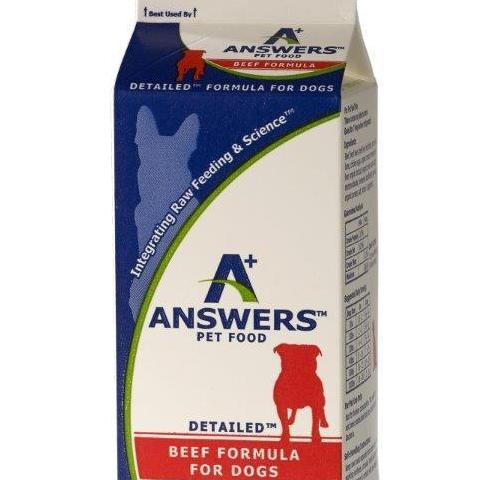 Answer's Frozen Detailed Beef Formula 4# Carton