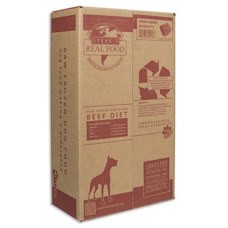 Steve's Dog Food Frozen Beef Patties 13 pound case