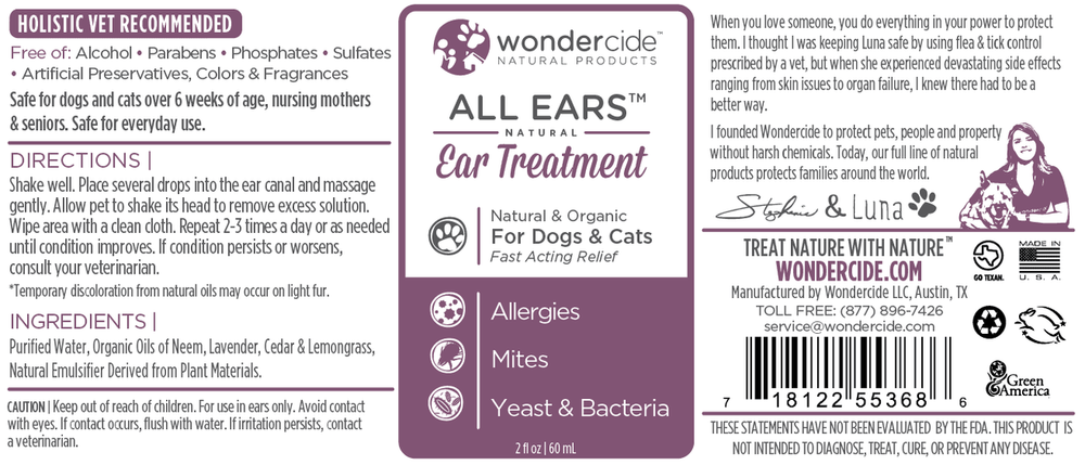 Wondercide Ear Mite Infection Treatment