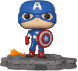 Funko - Marvel Pop! Vinyl - Avengers Assemble - Captain America Deluxe #589 (Exclusive)
