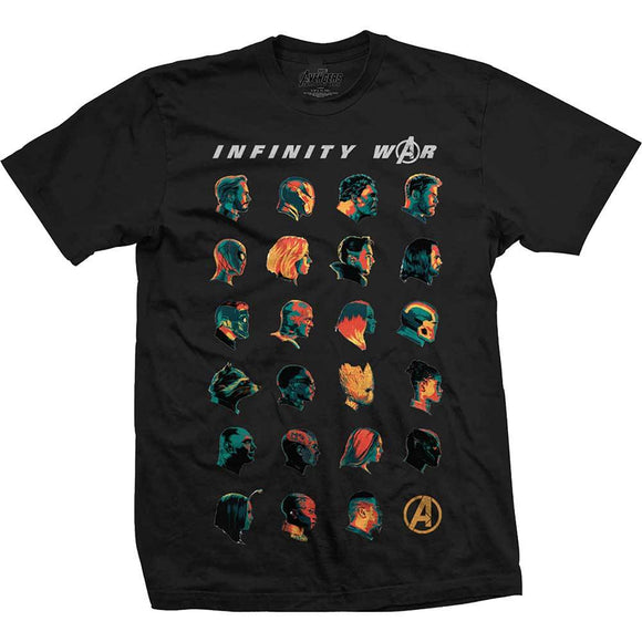 Marvel Comics - Avengers Infinity War (Black) - XL/XXL T-Shirt - Gloriously Geek