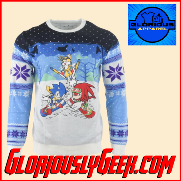 Apparel - Sega - Sonic the Hedgehog Skiing Christmas Jumper