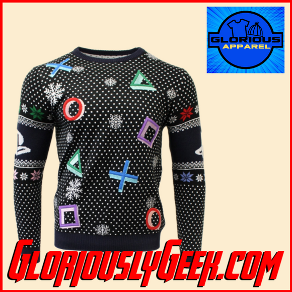 Apparel - Sony - PlayStation Symbols Christmas Jumper