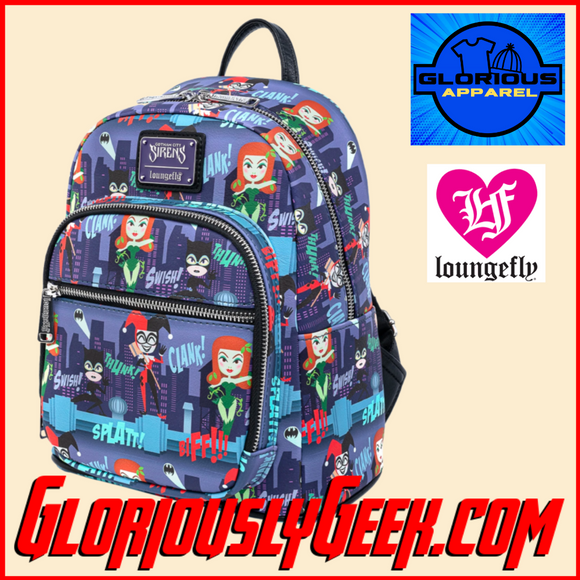 Apparel - Bags - Loungefly - DC Comics - Gotham City Sirens Mini Backpack